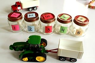 Tractor pull counting game!   scroll down the website and you will hit a gallery of favorite lesson plans :)   http://www.abcand123learning.com/