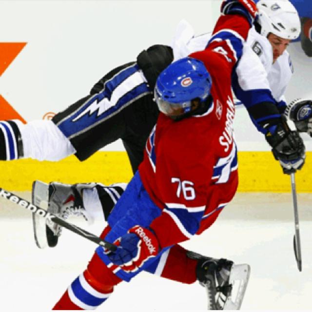 P.k subban #NHL #hockey #hit #montrealcanadians