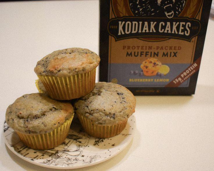 Kodiak cakes blueberry lemon muffins lemon blueberry