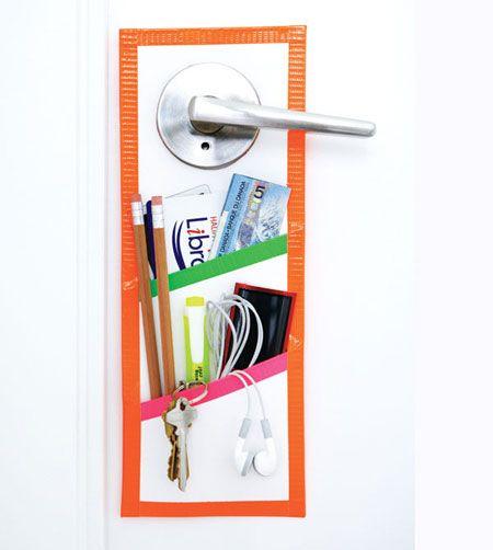 Simple door organizer craft for kids