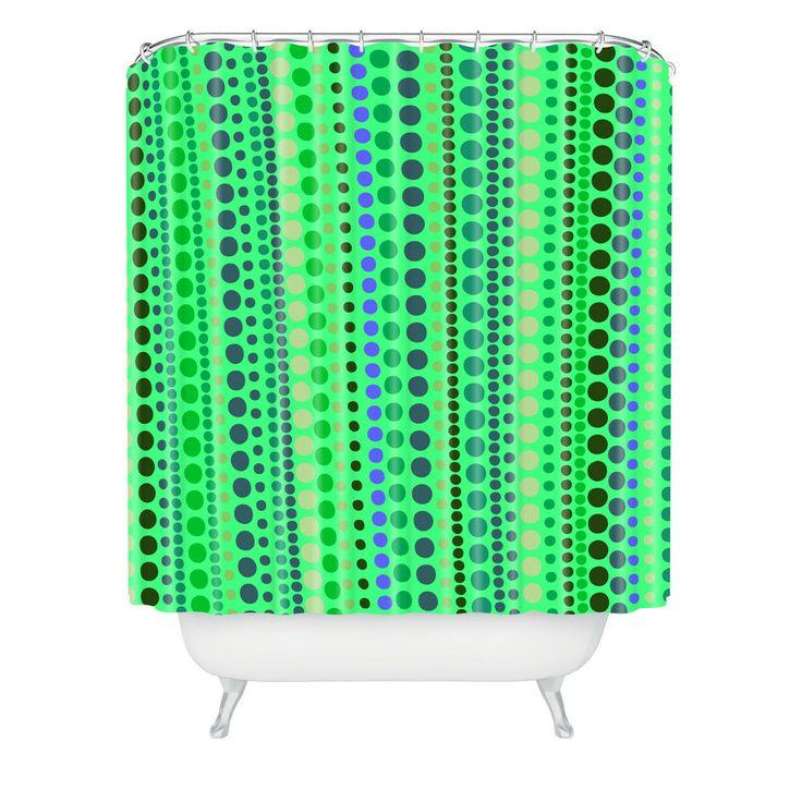 Romi Vega Retro Green Shower Curtain | DENY Designs Home Accessories