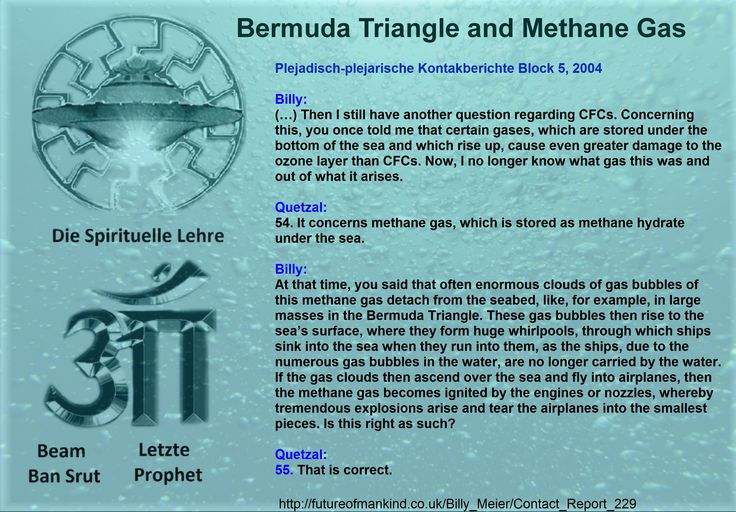 "theories of bermuda triengle methane hydrates And bermuda coined as ""the bermuda triangle"" many theories have risen over the pockets of methane gas, methane hydrates  to bermuda once in my life."