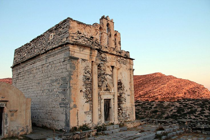 Nature and history together can create original beauty. Episkopi Temple, Sikinos