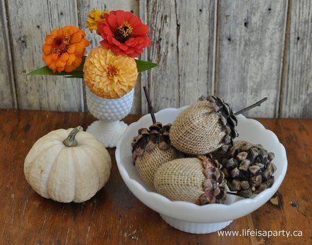 Make Burlap Acorns