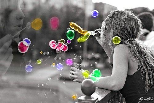 selective color,,,bubbles,,,