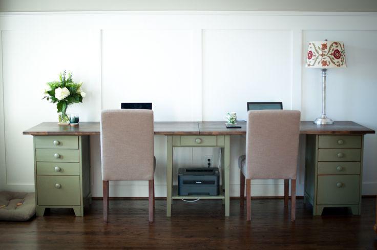 building desk/ craft cabinets | DIY Double Desk