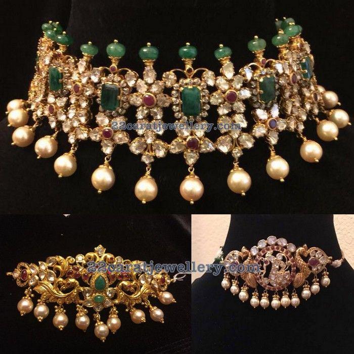 Pachi Chokers by Pushkala Jewellers