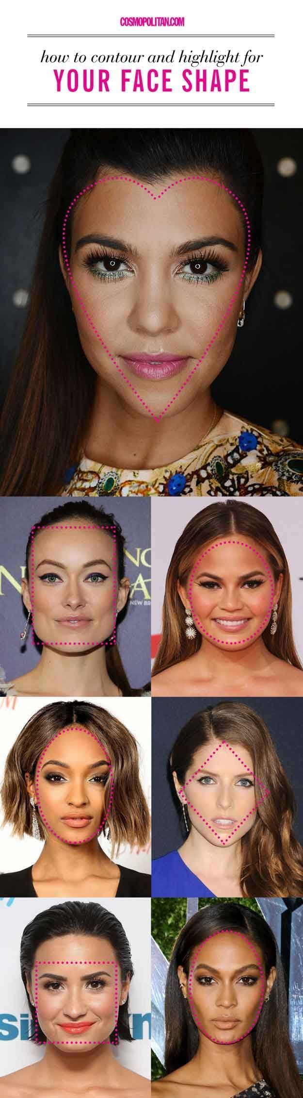 Check out Contouring By Facial Shape at http://makeuptutorials.com/contouring-by-facial-shape/
