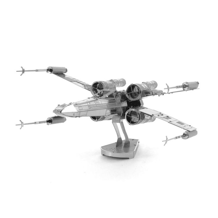 Freeshipping Star Wars X-Wing Starfighter 3D Metal Nano Puzzle DIY Model 3D Laser Cut Steel Jigsaw Toys For Audit