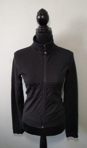 Lululemon Studio Jacket Black Size 6 Shape Define Yoga Sweater Activa