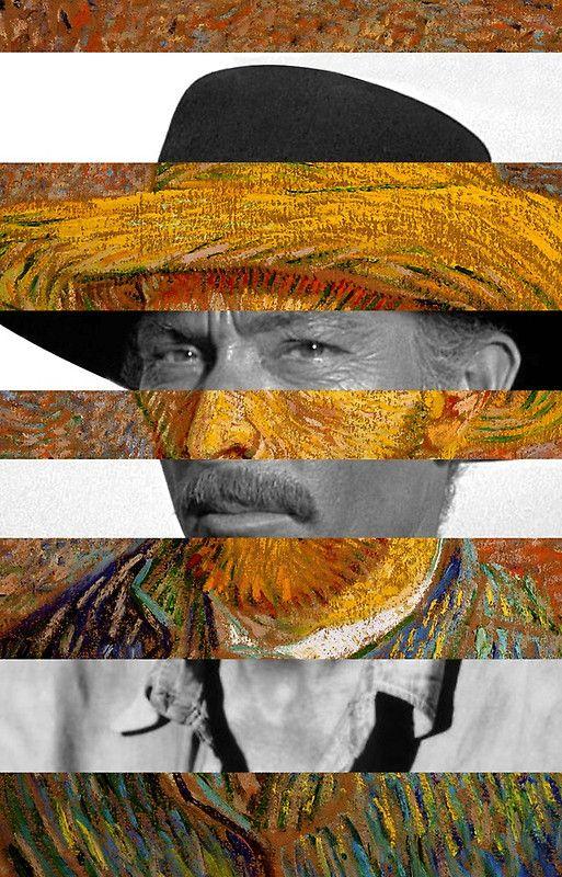 Van Gogh's Self Portrait & Lee Van Cleef
