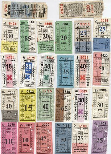 stickers and stuff: Bus Tickets