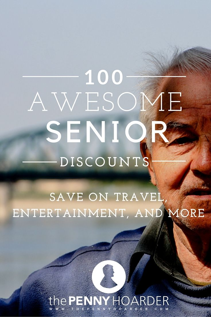 Your golden years just got a little brighter. We found the 100 best senior discounts for you to take advantage of in your 50s and beyond. - The Penny Hoarder http://www.thepennyhoarder.com/best-senior-discounts/