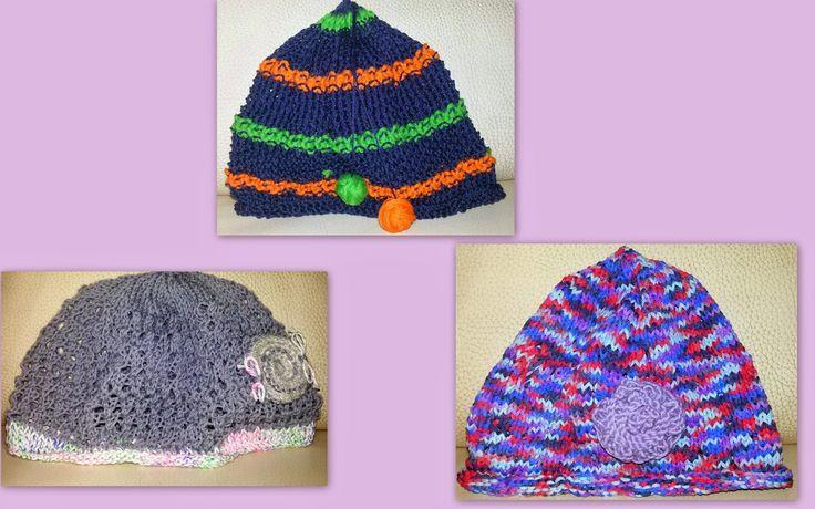 Cappellini lavorati a maglia