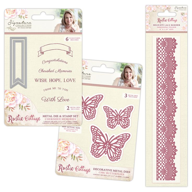 Brand new #RusticCottage collection by Sara Davies from #crafterscompanion
