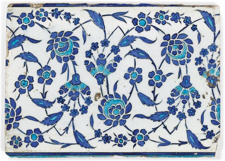 An Iznik Pottery Tile Ottoman Turkey, Circa 1530