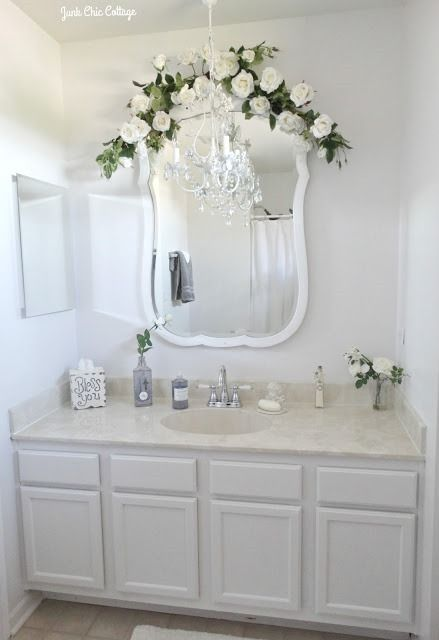 Shabbilicious Sunday Visits Junk Chic Cottage You Will Enjoy Kris Beautiful Rustic Bathroom MirrorsShabby