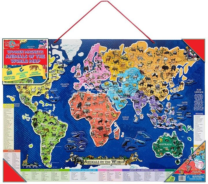 Ts shure wooden magnetic animals of the world map puzzle ts shure wooden magnetic animals of the world map puzzle gumiabroncs Gallery