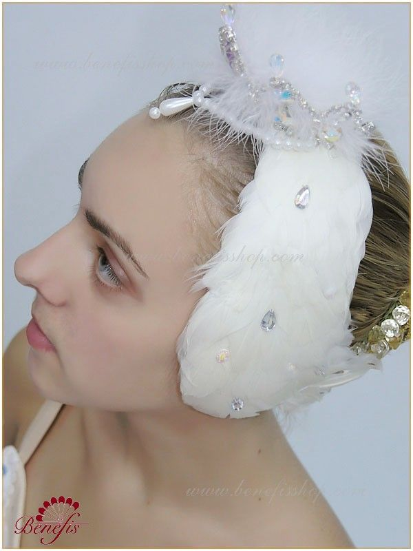 Headpiece for white swan (Odette) - S 0017C USD 220 - for adults USD 214 - for children