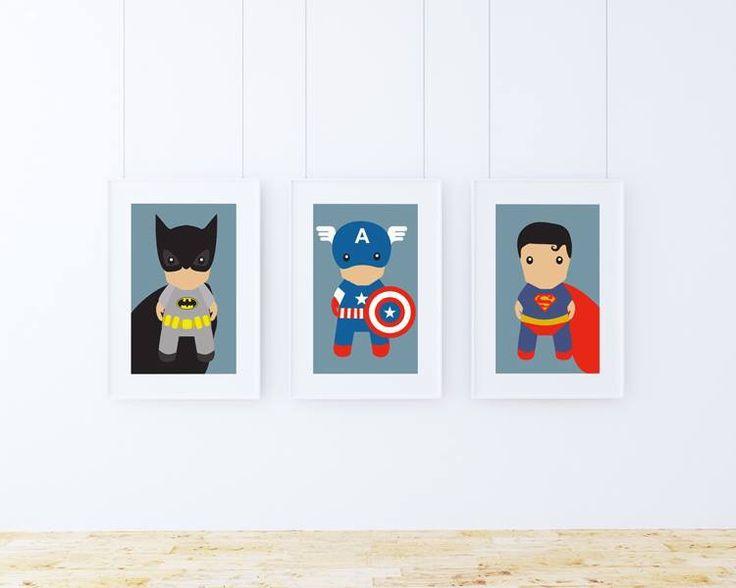 Ilustraciones de Batman,  Capitán América y Superman  DOWNLOAD FOR FREE