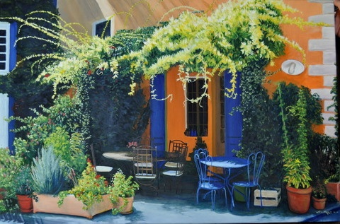 French Morning ...oil painting by Bill