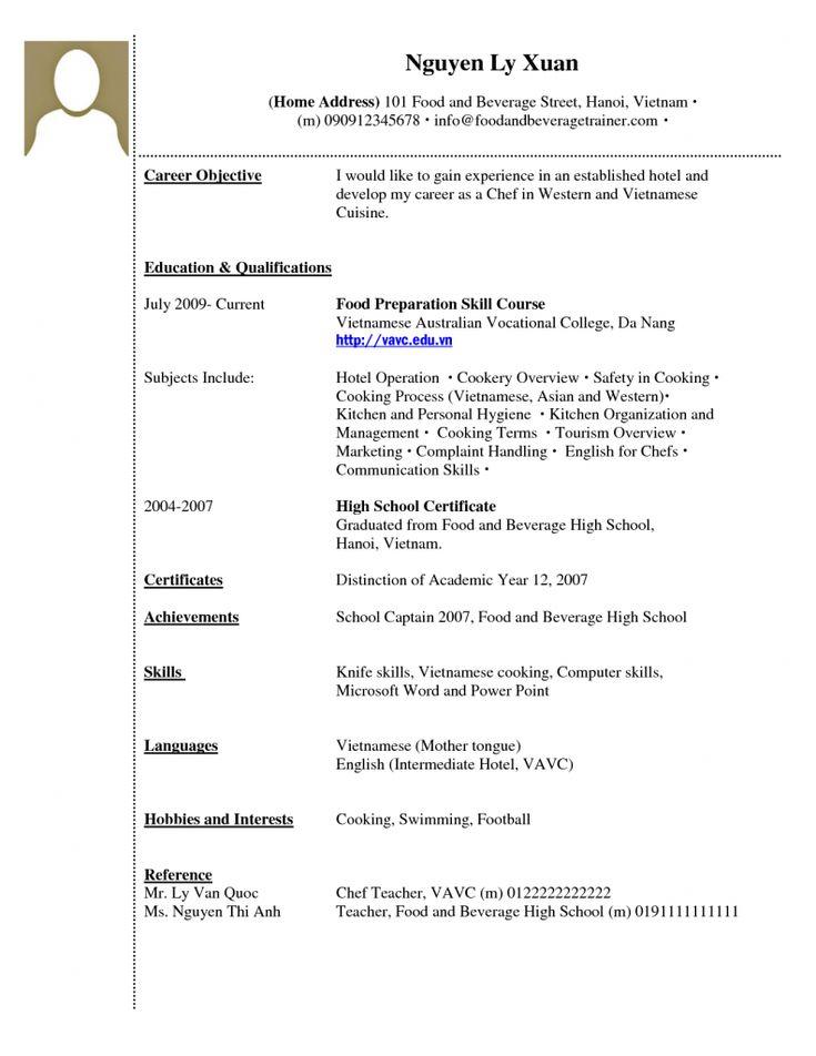 resume fast food best 25 high school resume template ideas on