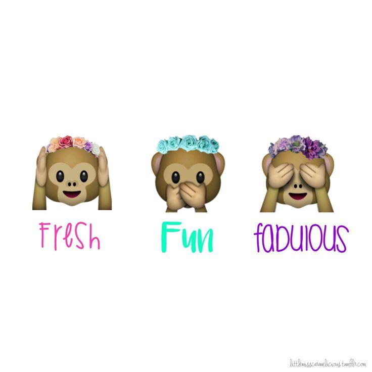 emoji monkey with flower crown wallpaper - Google Search