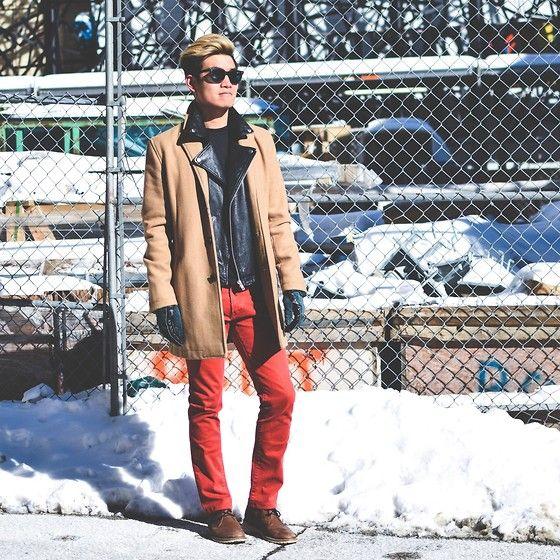 Topman Coat, Lacoste Boots