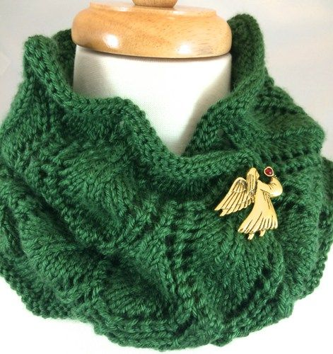 Caron Simply Soft Knitting Patterns : New! #Neck Warmer #Green #Hand Knit Shield Pattern Dark Sage #Caron Simply So...