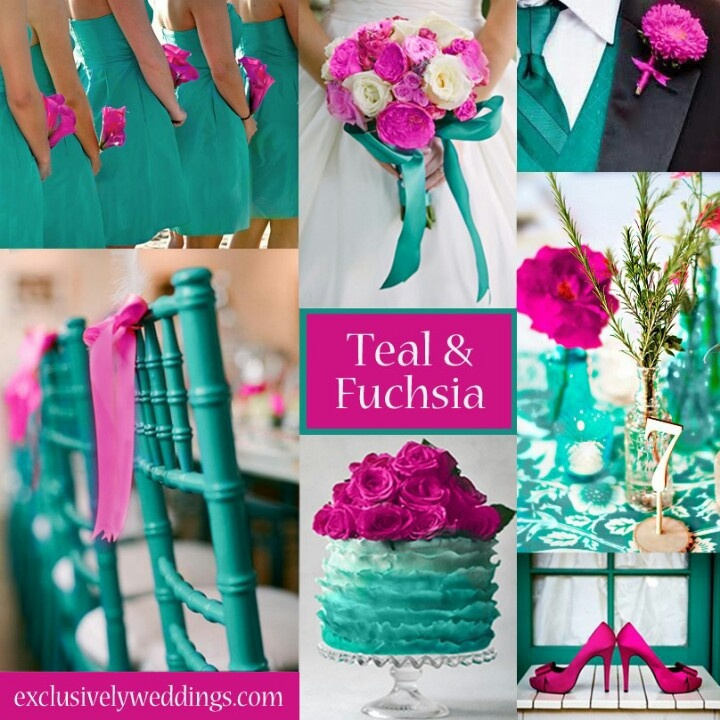 Teal And Fuchsia Wedding Colors A Vibrant Palette For Spring Summer Weddings This Is Beautiful While Now I Ve Been Saying My Are Going