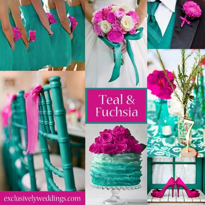Turquoise & Fuchsia Wedding