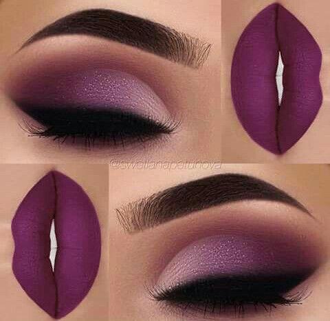 Hermoso maquillaje... el color magenta resalta muy bien en la piel color trigueña... #maquillarcejas