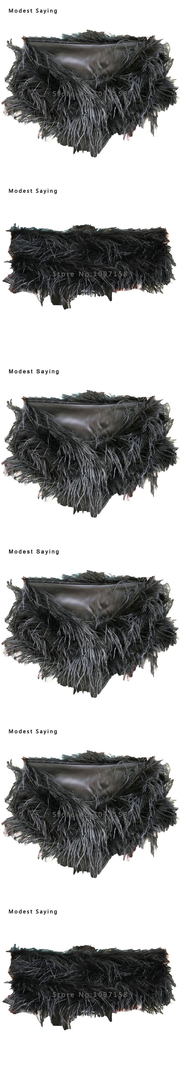 Real Elegant Black Ostrich Feather Coats Wedding Fur Bolero bolero 2017 Bridal Shawl Wraps for evening dresses cape mariage YB3