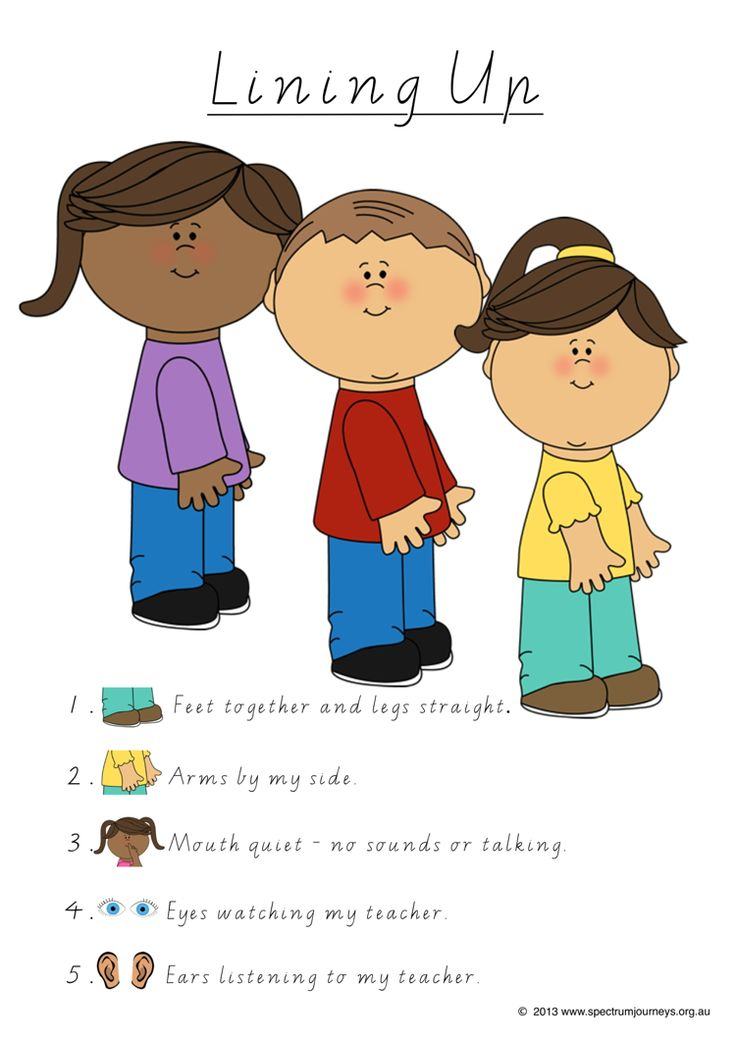 Lining Up. This poster provides children with clear expectations of what their bodies should be doing when asked to line up. Especially good for children with Autism as they have clear instructions to refer back to. FREE Download.