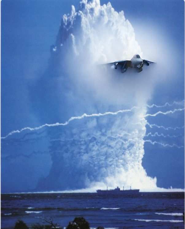 Sound Barrier  Surface nuclear explosions did not take place in the days of the jet breaking the sound barrier