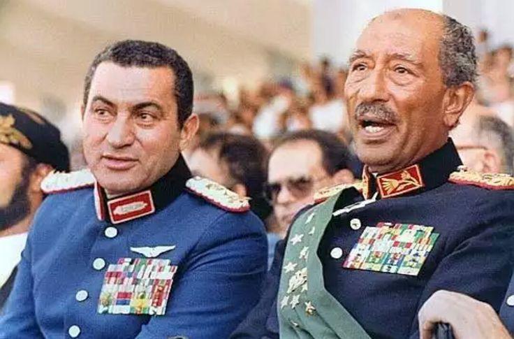 Last day of Enver Sedat /with Hüsnü Mubarek/6.10.1981