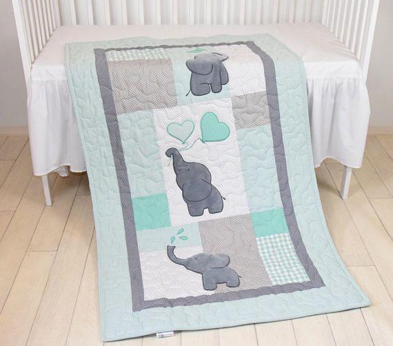 Edredón del bebé manta del elefante ropa de cama de cuna