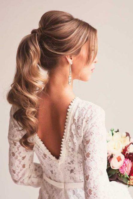 28 Ideen Langes Haar Hochzeitsfrisuren Brünette Abschlussball