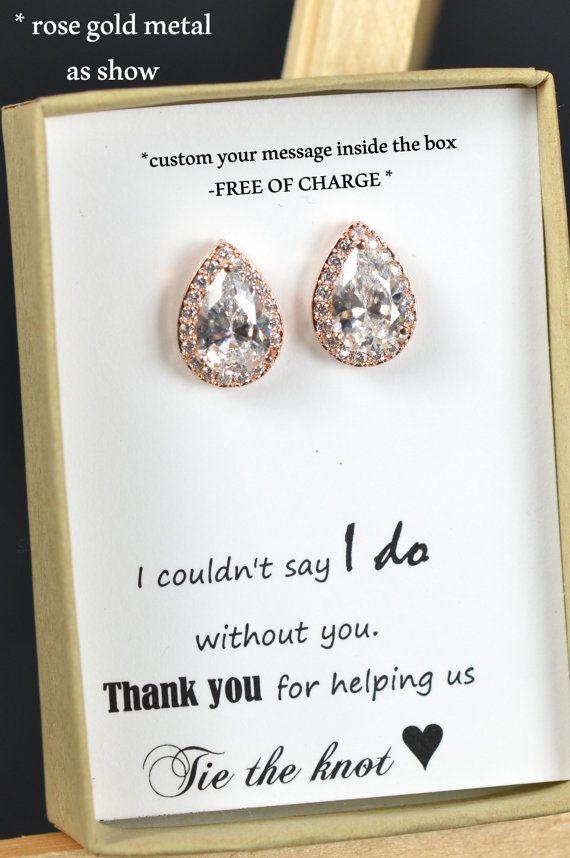 Rose gold Brautjungfern Ohrringe von thefabbridaljewelry auf Etsy
