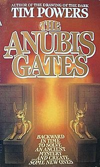 The Anubis Gates (1983) is a time travel fantasy novel by Tim Powers. It won the 1983 Philip K. Dick Award and 1984 Science Fiction Chronicle Award.