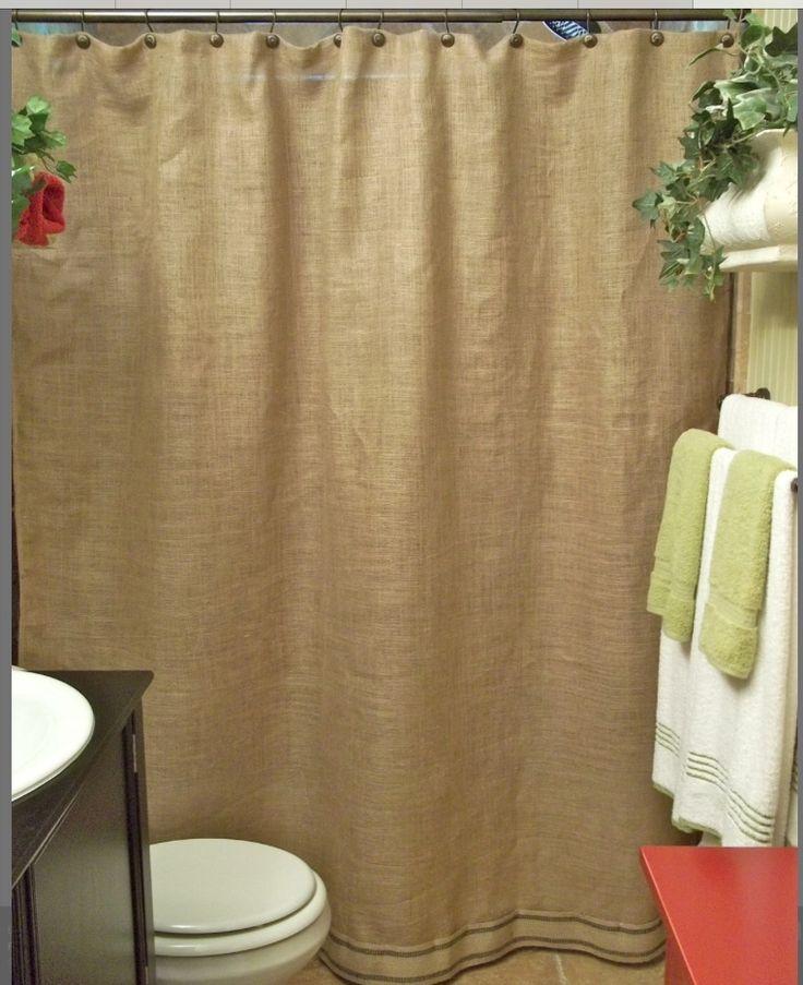 Rideau de douche ( ou pas) en toile de jute