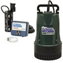 """Basement Watchdog BW1050 - 1/2 HP Cast Iron Submersible Sump Pump w/ Vertical Float Switch. You'll end up saving money with this energy efficient pump. The BW1050 only uses only 4.2 amps (compare to 10+ amps on other pumps) and earns our """"Good"""" recommendation.    Combine that with dual float switches wrapped in a protective cage, it provides added redundancy and won't get hung up like other switches often do."""