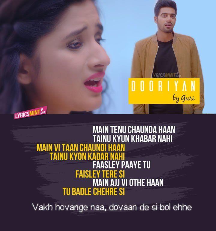 Dooriyan Lyrics - Guri, Tanya