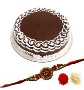 Rakhi with Cake with Same Day Rakhi Delivery