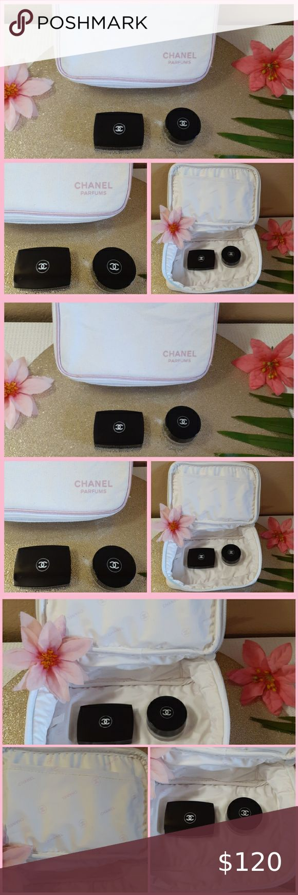 CHANEL makeup bag + travel jar + mirror in 2020 Chanel