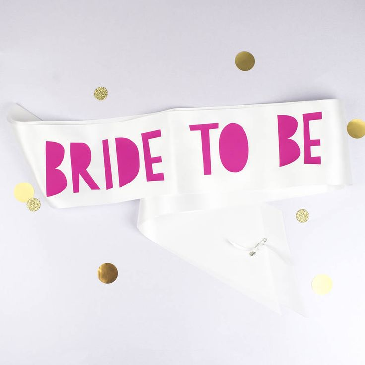Papercut Style Bride To Be And Hen Sashes