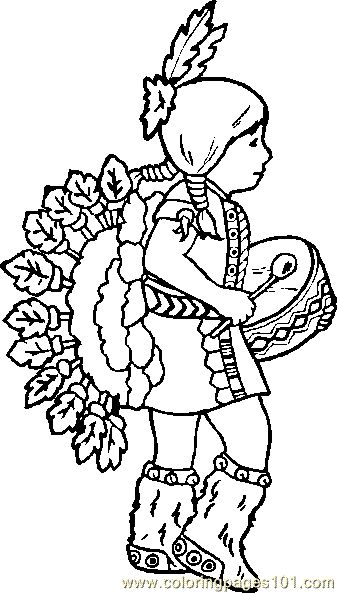 free printable coloring image Indian Coloring Page 06