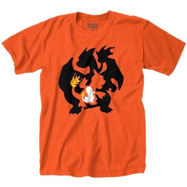 Charmander Evolution Funny Shirt Cute Gamer Gift Cool Pokemon T-Shirt... ($5.99) ❤ liked on Polyvore featuring tops, t-shirts, t shirts, orange top, tee-shirt, orange shirt and shirt top
