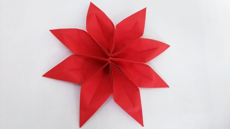 Origami 8 Petal Flower (2 unit) step by step