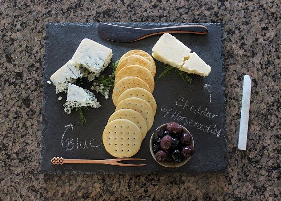 Slate Cheese Board Serving Plate 10 x 12 by RockTimber on Etsy
